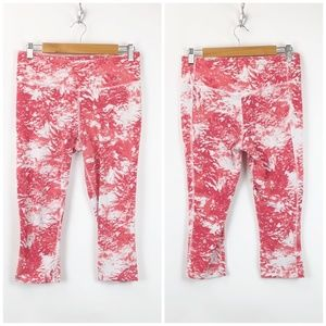 Nike Red White Training Athletic Crop Pants